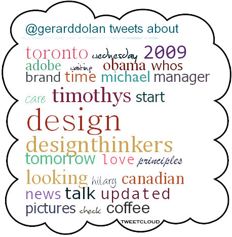 Tweet cloud November 2009
